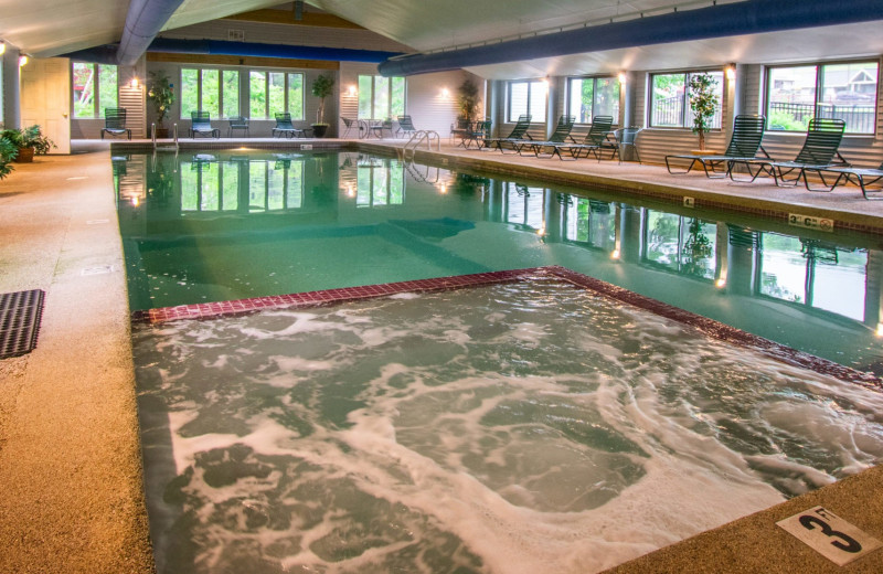 Indoor pool at Attitash Mountain Village Resort.