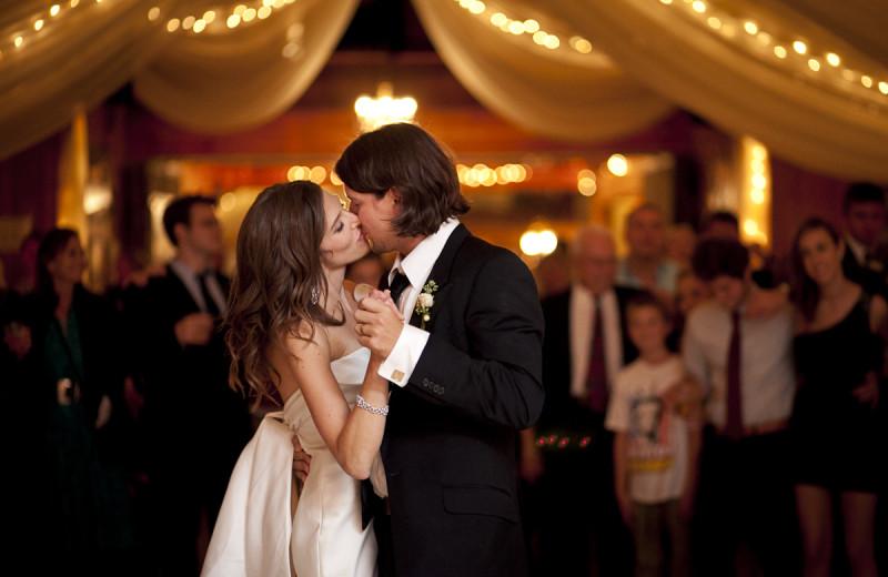 Wedding couple at Fair Hills Resort.