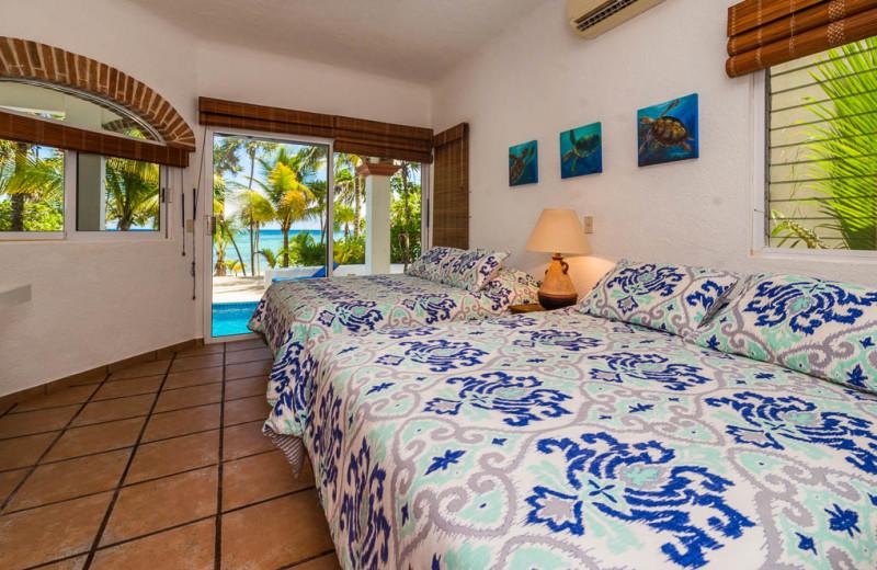 Guest room at Casa Playa del Caribe.