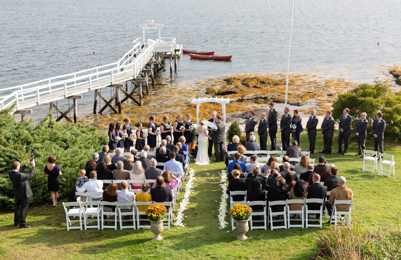 Wedding at Linekin Bay Resort.
