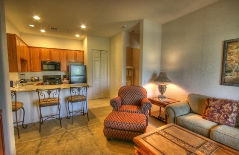 Vacation rental interior at Fairway Vacation Rentals.