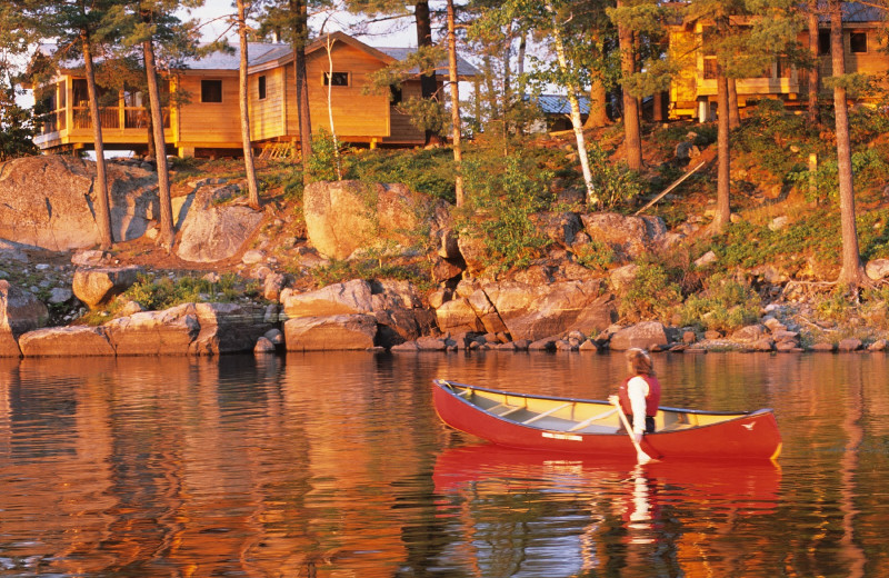 Canoeing at The Lodge at Pine Cove.