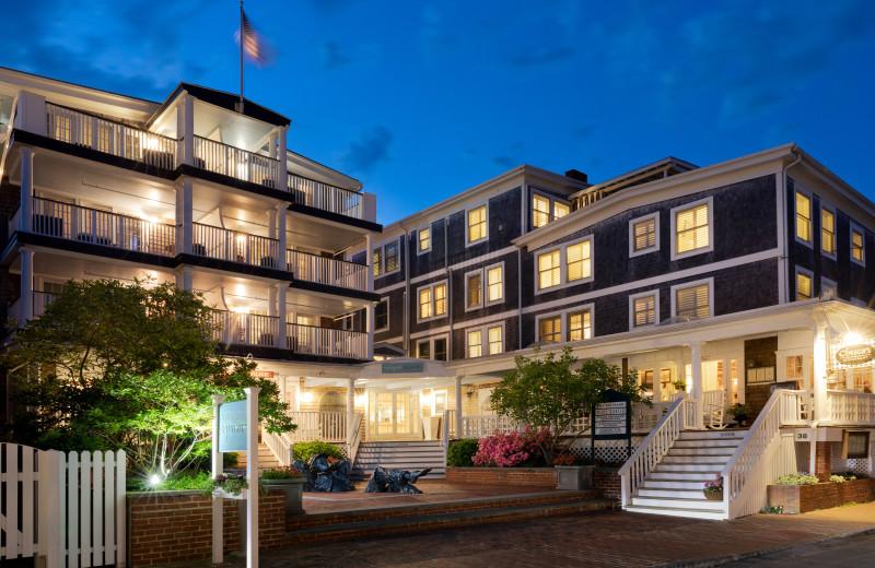 Exterior view of Vineyard Square Hotel & Suites.