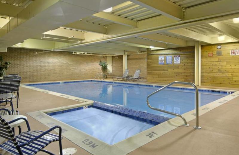 Indoor Pool at the Ramada Plaza Hotel Ojibway