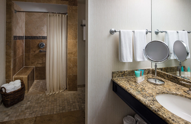 Guest bathroom at Hyatt Regency Hill Country Resort and Spa.
