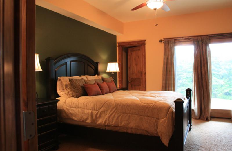 Condo bedroom at Highland Rim Retreats.