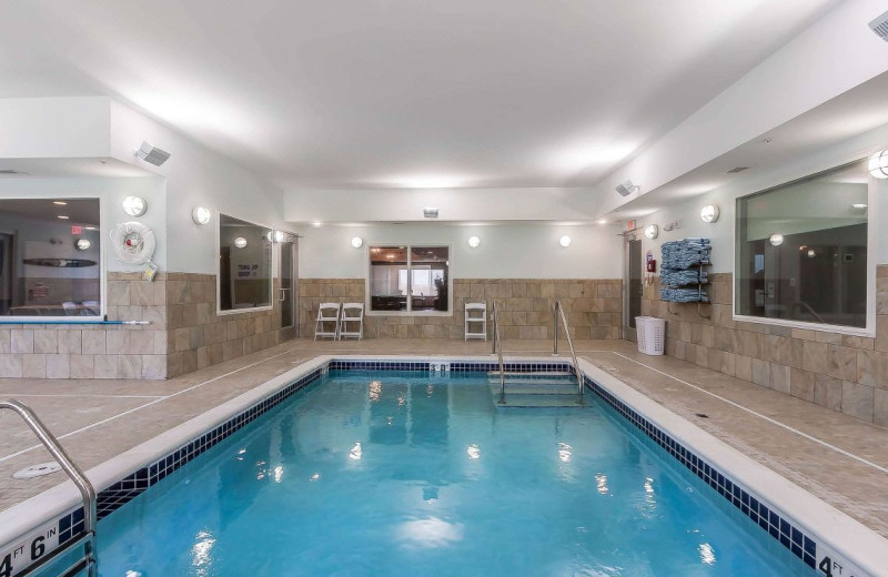 Indoor pool at Lakes Inn at Dunvilla.
