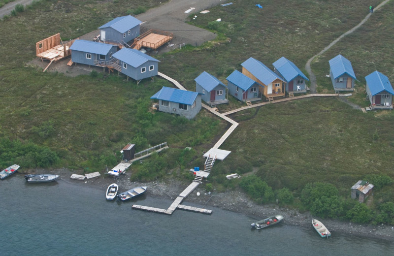 Aerial view of Naknek River Camp.