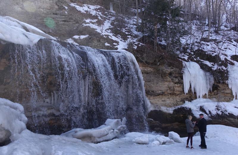 Waterfall at St Croix River Inn.