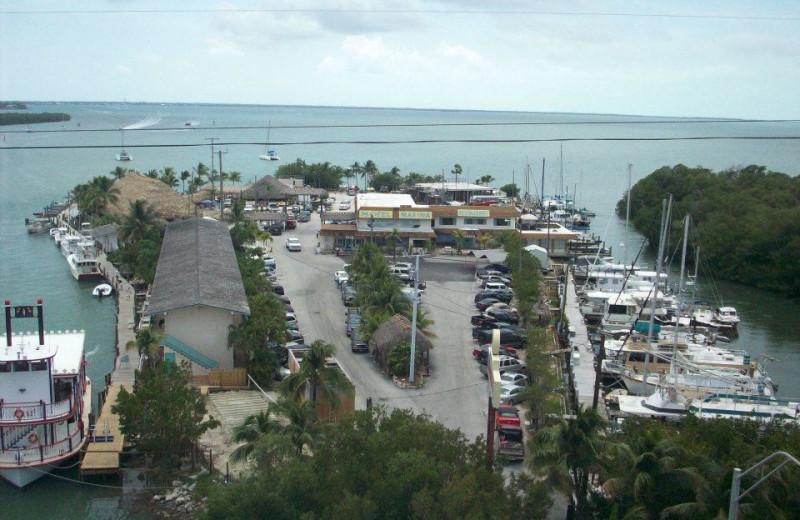 Aerial view of Gilbert's Resort.