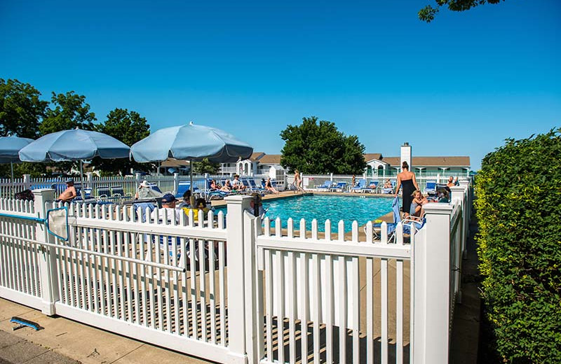 Outdoor pool at The Sparhawk Oceanfront Resort.