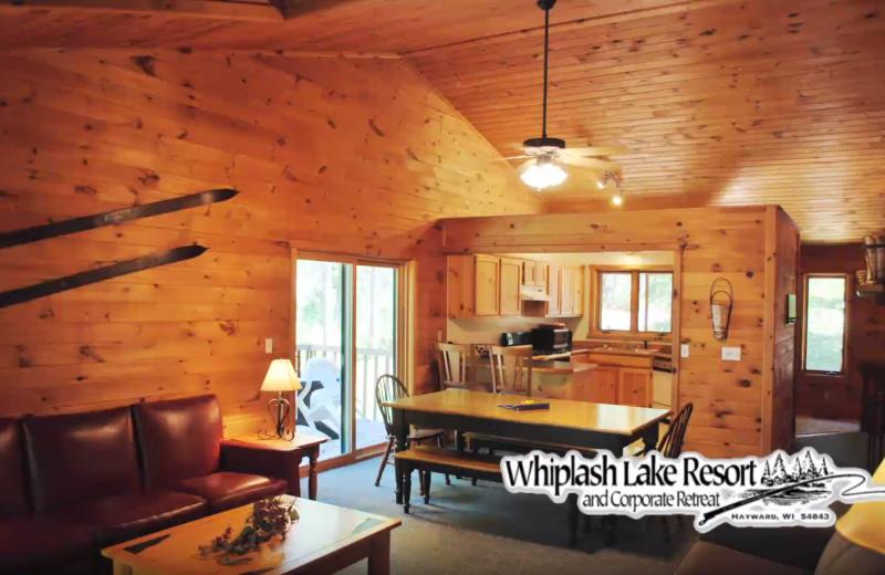 Cabin kitchen at Whiplash Lake Resort.