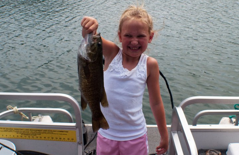 Kid Fishing at  Eagle Ridge Resort