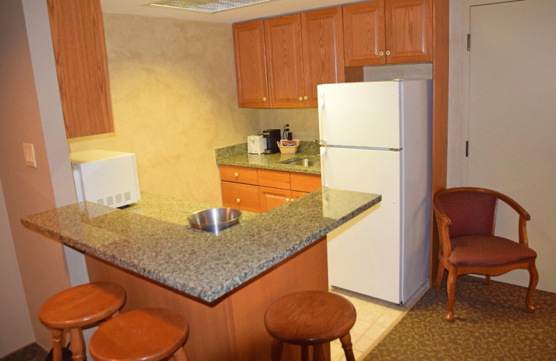Guest kitchen at Stone Gate Inn.