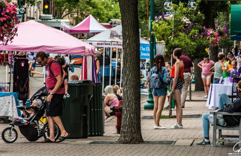 Market near Pelican Beach Resort.