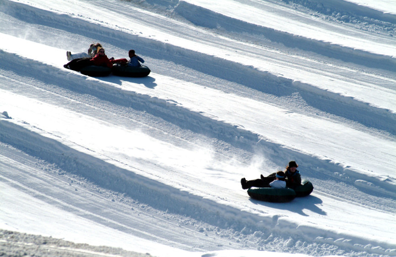Snow tubing at Hope Lake Lodge & Indoor Waterpark.