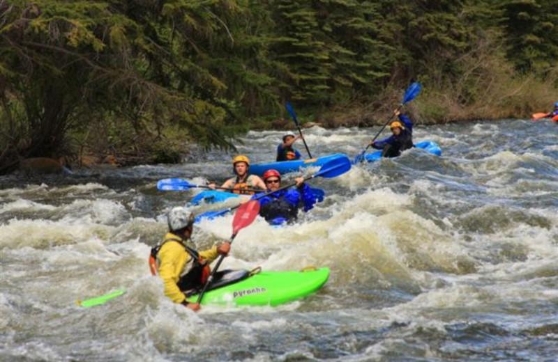 Water activities at Three Rivers Resort.