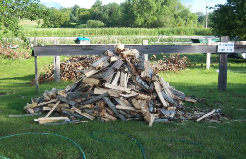 Wood pile at Pocahontas Resort.