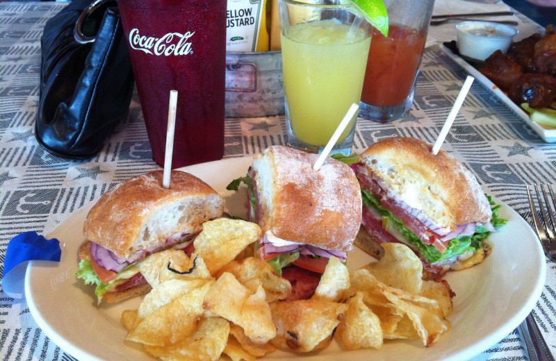Dining options at Bay Harbor Resort and Marina.