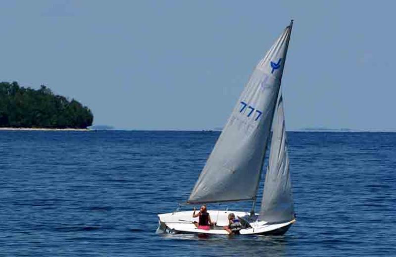 Sailing at Edgewater Resort.