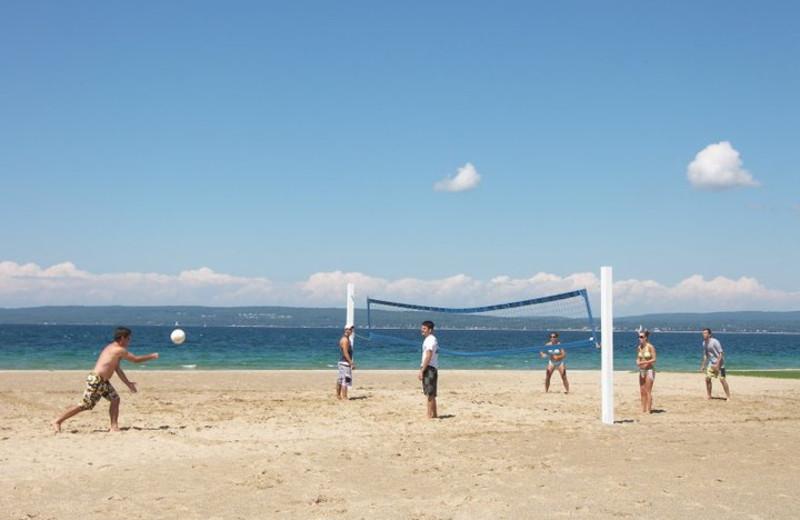 Beach at Bay Harbor Resort and Marina.