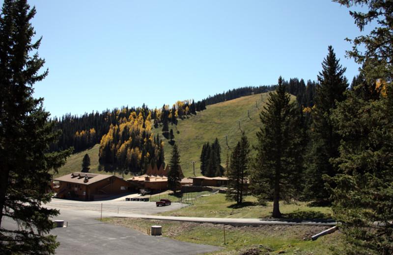 Ski lift near Hummingbird Cabins.