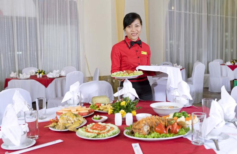 Dining at Asean International Hotel.