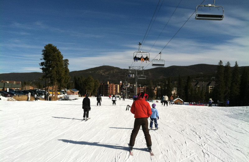 Skiing at Breckenridge Resort Mangers.