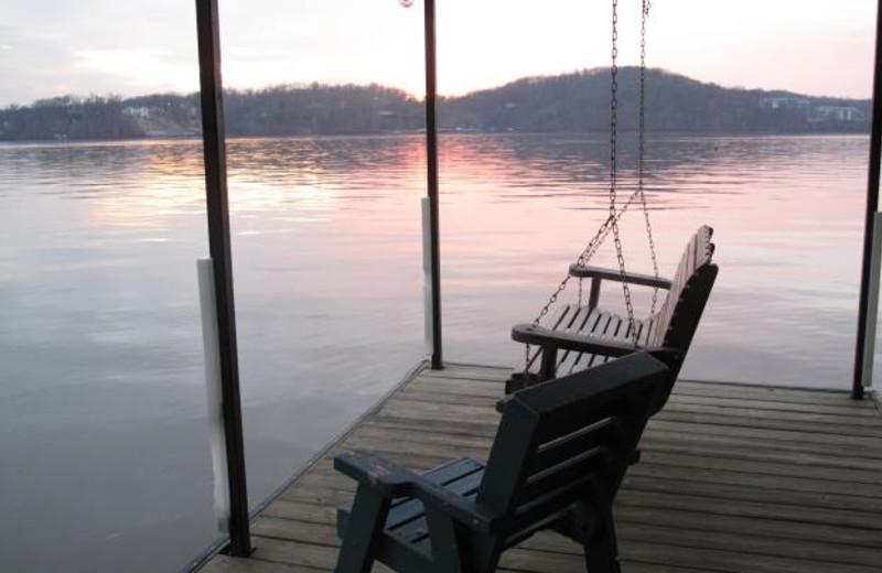 Relax by the dock at Sunset Inn Resort.
