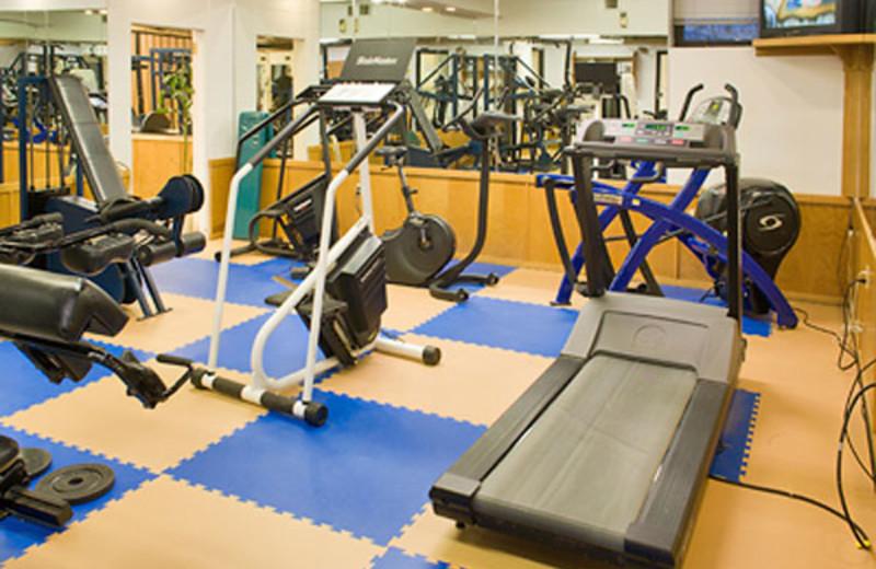 Attitash Motel fitness room at North Conway Lodging.