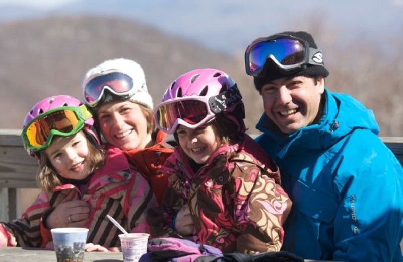 Family ski fun at Jiminy Peak Mountain Resort.