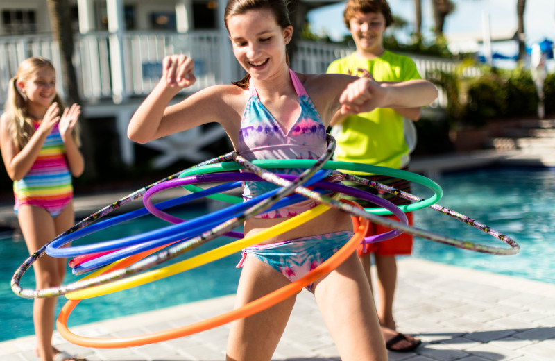 Hula hoop at TradeWinds Island Grand.