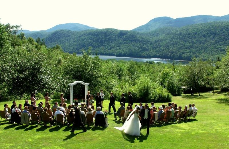 Outdoor Wedding Ceremony at Garnet Hill Lodge