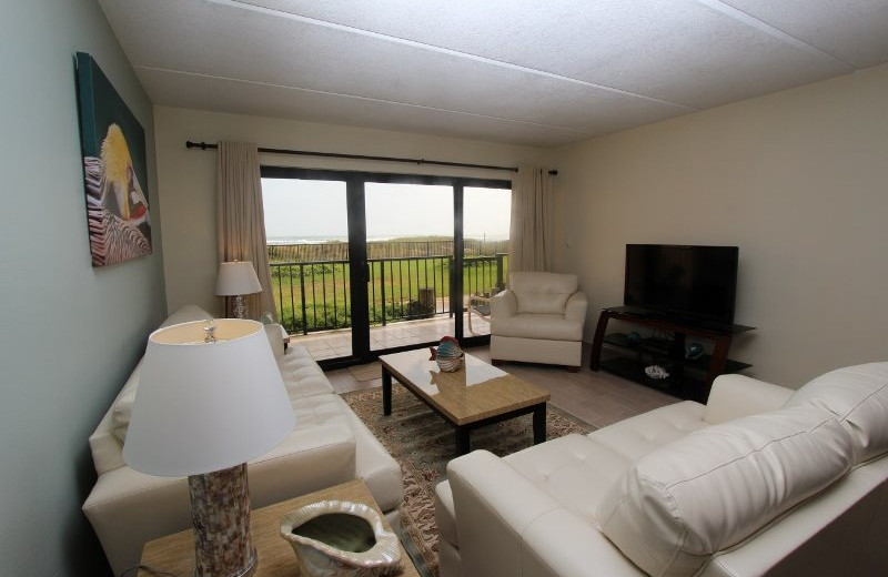Rental living room at Seabreeze I.