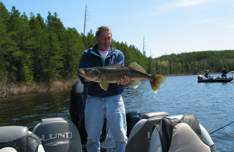 Fishing at Dogtooth Lake Resort.