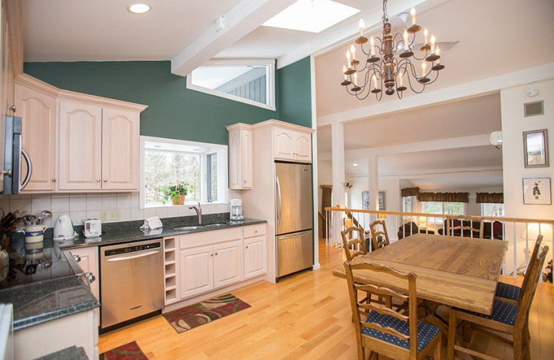 Rental kitchen at Stowe Vacation Rentals & Property Management.