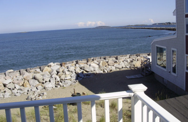 Rental view at Saco Bay Rentals. Carol Oceanfront rental, 2 bedrooms.