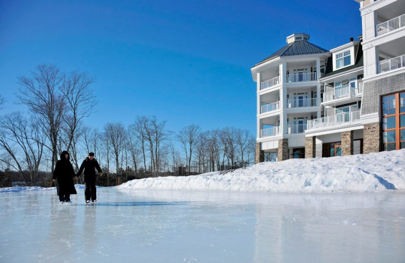 Ice skating at JW Marriott The Rosseau Muskoka Resort & Spa.