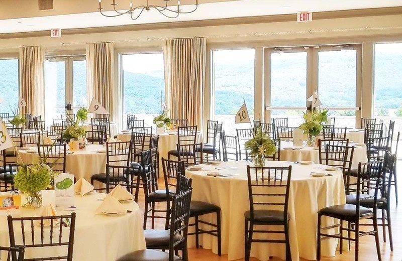 Banquet room at Bristol Harbour Resort on Canandaigua Lake.