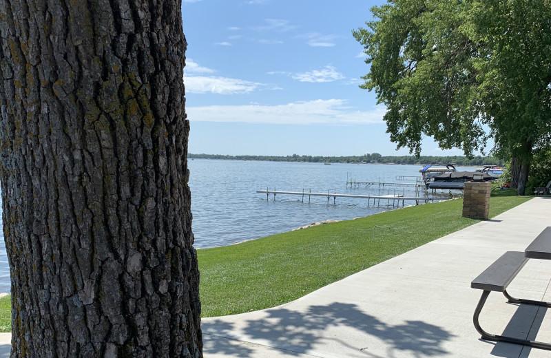 Lake view at Holly's Resort.