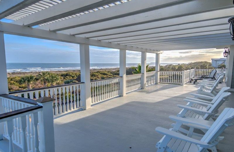 Rental porch at Exclusive Properties - Isle of Palms.
