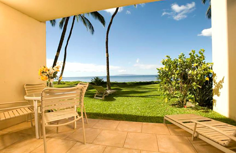 Patio view at Sugar Beach Resort.