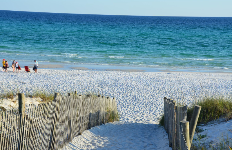 Beach at Luxury Properties Vacation Rentals.