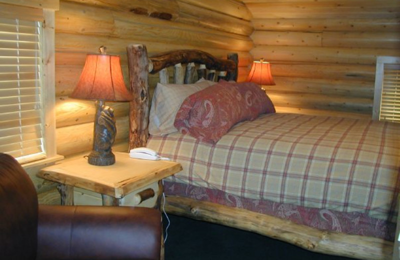 Cabin Bedroom at The Pines