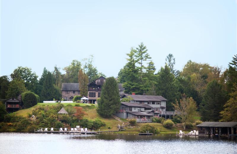 Inn view from lake at High Hampton Inn.