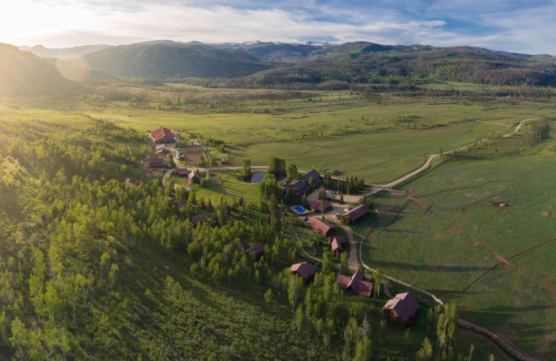Aerial view of Vista Verde Ranch.