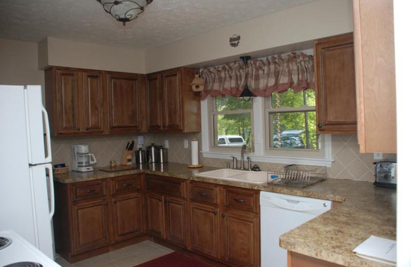 Cottage kitchen at Greenbrier River Retreat.