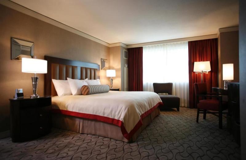 Guest room at Gold Strike Casino & Resort.