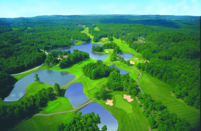 Aerial Golf Course View at The Resort at Glade Springs
