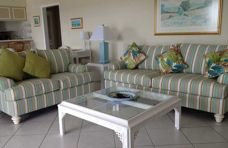 Guest apartment living room at Cove Inn on Naples Bay.